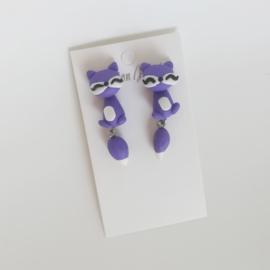 Kinder oorbellen - paars