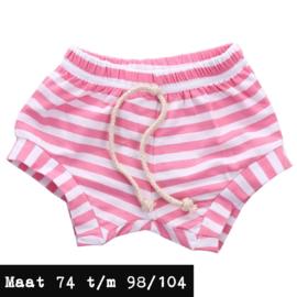 Roze kort broek - gestreept