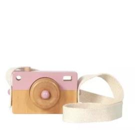 Tiamo Little Dutch houten camera roze 10x7x3cm
