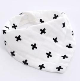 Hydrofiele slab/bandana - kruisjes