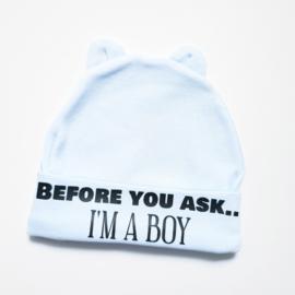 Newbornmuts I'm a boy