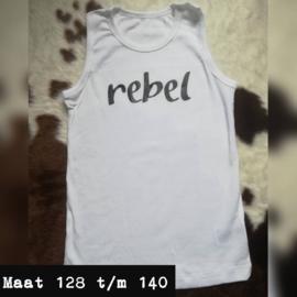 Wit singlet - rebel