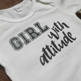 Wit romper - girl with attitude