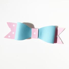Haarclip roze/blauw