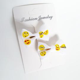 Haarclip mini (baby) emoticons