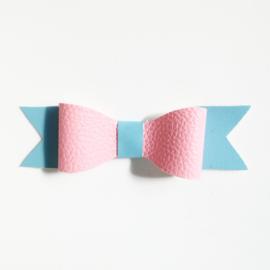 Haarclip small blauw roze