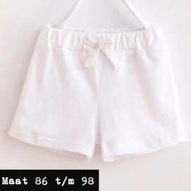 Wit - korte broek