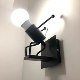 Wandlamp springend