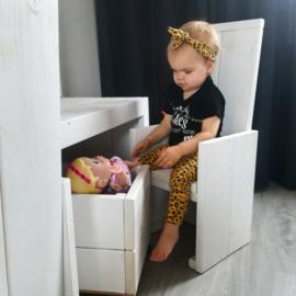 -Handmade- haarband panterprint geel
