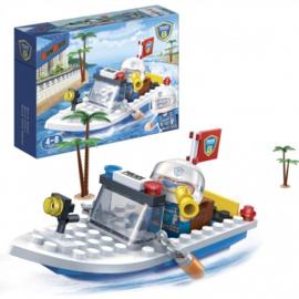 BanBao bouwpakket Politieboot 62-delig