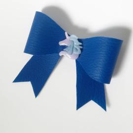 Haarclip small - blauw unicorn