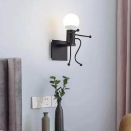 Wandlamp zittend