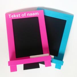 Krijtbord met naam of tekst