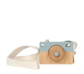 Tiamo Little Dutch houten camera blauw 10x7x3cm