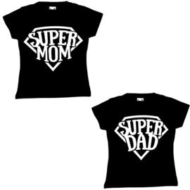 T-shirt super mom of dad