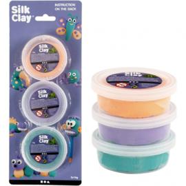 Silk Clay kleiset paars/oranje/groen 14 gram 3-delig