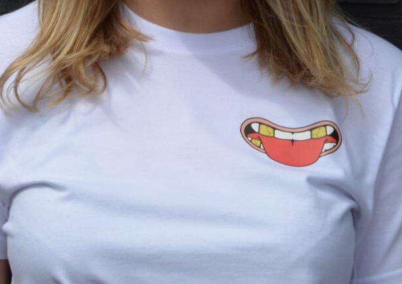 T-shirt met Mondje design