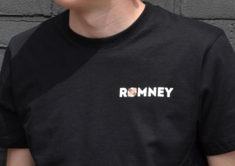 T-shirt met Romney design