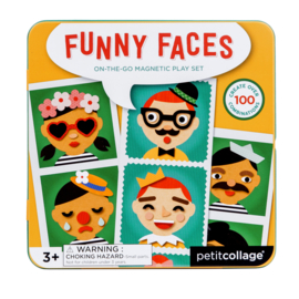 Petit Collage - Magnetic Play: Funny faces