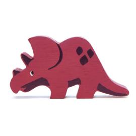 Tender Leaf Toys - Houten Triceratops - 11 cm