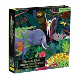Mudpuppy - Glow in Dark Puzzel Jungle (500 st)
