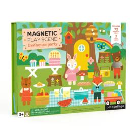 Petit Collage - Magnetic Play Scene: Boomhutfeestje