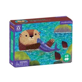 Mudpuppy - Mini Puzzel Sea Otter (48 st)