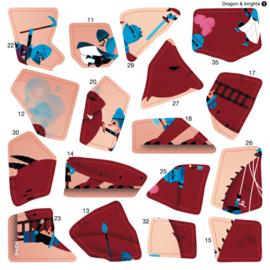 Poppik - Sticker puzzel: Draken en ridders