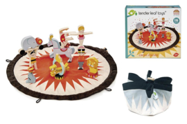 Tender Leaf Toys - Circus in opbergzak 45 x 45 x 13,5 cm - 16-delig