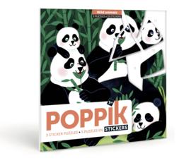 Poppik - Sticker puzzel: Wilde dieren