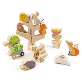 Tender Leaf Toys - Stapelspel Garden Friends - 14 cm