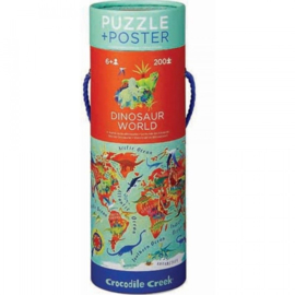 Crocodile Creek - Puzzel & Poster Dinosaur World (200 st)