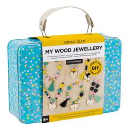 Petit Collage - DIY design set: Knutselset voor houten juwelen