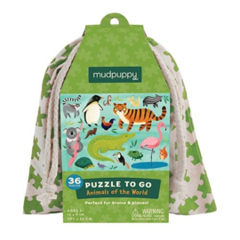 Mudpuppy - Puzzle To Go Animals Of The World (36 st)