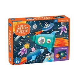 Mudpuppy - Lift-the-flap Puzzle Blast Off! (12 st)