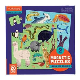 Mudpuppy - Magnetic Fun Land & Sea Animals (2 x 20 st)