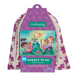 Mudpuppy - Puzzle To Go Mermaids (36 st)