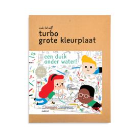 Makii - Turbo Grote Kleurplaat Water