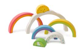 Tender Leaf Toys - Houten Puzzel Regenboogtunnel - 21 cm