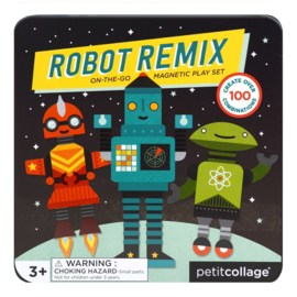 Petit Collage - Magnetic play set: Robots magnetisch