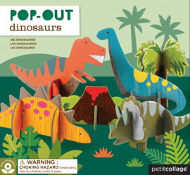 Petit Collage - Pop-out: 3D Dinosaurussen
