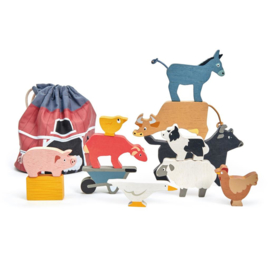 Tender Leaf Toys - Stapelaar Boerderijdieren - 13-delig