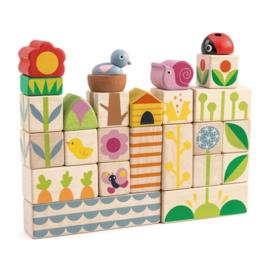 Tender Leaf Toys - Blokken Tuin - 24 stuks