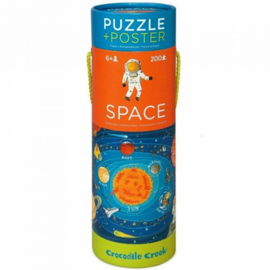 Crocodile Creek - Puzzel & Poster Space (200 st)