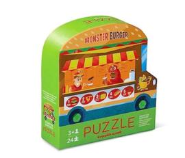 Crocodile Creek - 2-zijdige Puzzel Foodtruck Monster Burger (24st)