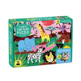 Mudpuppy - Lift-the-flap Puzzle On Safari (12 st)