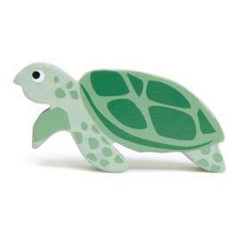 Tender Leaf Toys - Houten Zeeschildpad - 9 cm