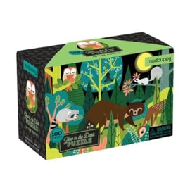 Mudpuppy - Glow in Dark Puzzel In the Forest (100 st)
