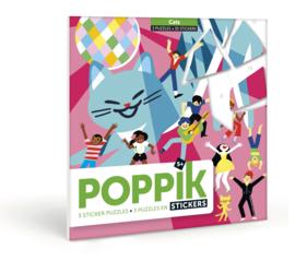 Poppik - Sticker puzzel: Katten