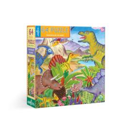 Eeboo - Dino Eiland Puzzel (64 st)